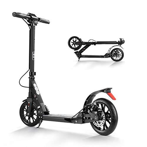 WRRAC-Trampolin Scooter de cercanías Patinete Deportivo de Estilo Libre Micro Kickboard Altura Ajustable con Sistema de Plegado fácil de 3 Segundos Ruedas Grandes de 200 mm Carga máxima de 220