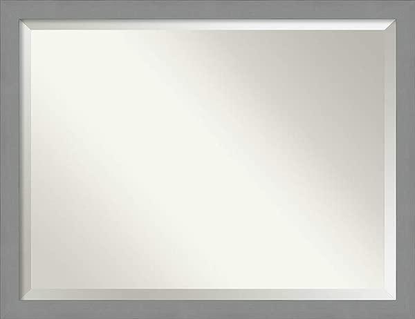Amanti Art 梳妆台浴室拉丝镍框壁挂式镜子玻璃尺寸 40x30