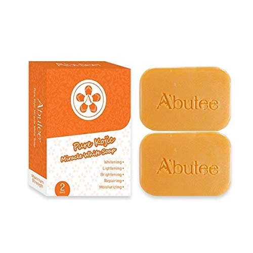 ARBUTEE | Pure Kojic Acid Skin Brightening Whipp Soap for Glowing & Radiance Skin, Dark Spots, Rejuvenate, Uneven Skin Tone | Maximum Strength, SLS-Free, Paraben-Free(2 Bars, Pure Kojic)