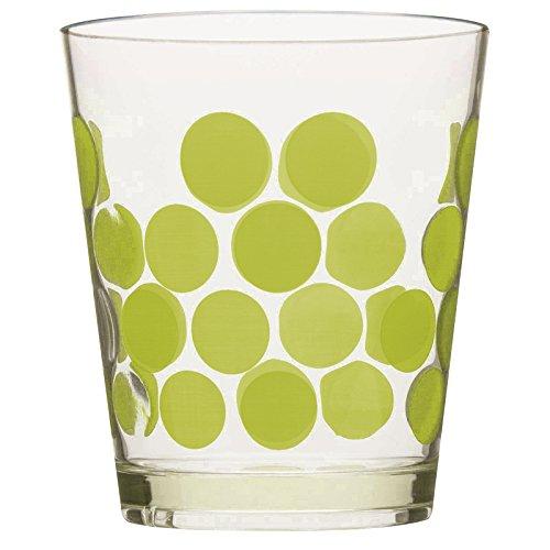 Zak Designs 2110-Q980 Set Cocktail Dot 5 pièces Vert, Plastique, 45x35x25 cm