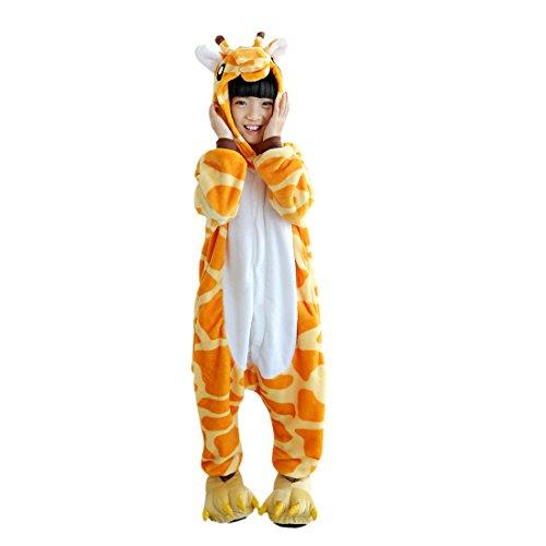 DarkCom Beaux Enfants Grenouillere De Vetements De Nuit De Dessin Anime Cosplay Onesies Pyjama Girafe, Girafe, 140(proposer hauteur:138cm-146cm)