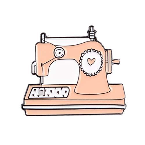 Broche Pins – Vintage Máquina de coser Pins Tejer Amor Corazón Broche insignias Bolsa Ropa Imperdibles Pareja Joyas Regalos para amigos