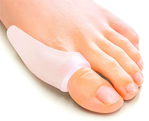 Povihome Bunion Protector Gel Shield, Bunion Pads, Transparent Big Toe Bunion Guard, Cushion and Protect Foot, Relieve Pain from Friction and Pressure - 10 Packs