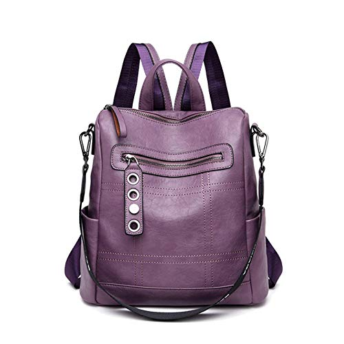N-B Backpack Women Leather Female Backpack School Bags For Teenagers Girls Travel Backpack