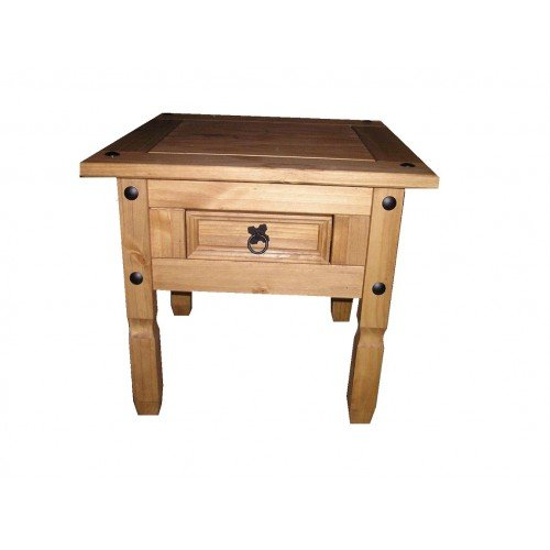 Mercers Furniture Corona 1-Drawer Lamp Table - Pine
