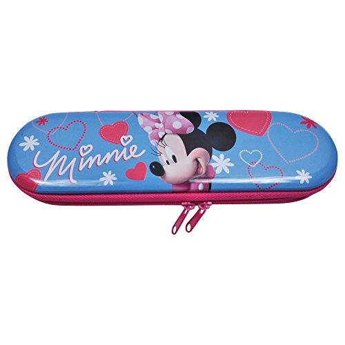 UPD BMZI Disney Minnie Mouse Hearts Tin Zipper Pencil Case, Multi