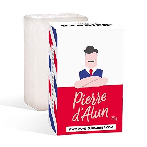 Monsieur Barbier - Pietra di allume naturale/bio per cura dopobarba da uomo