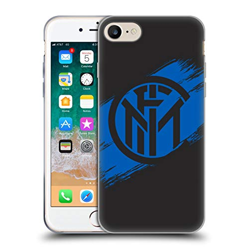 Head Case Designs Ufficiale Inter Milan Tratti di Pennello Grafici Cover in Morbido Gel Compatibile con Apple iPhone 7 / iPhone 8 / iPhone SE 2020