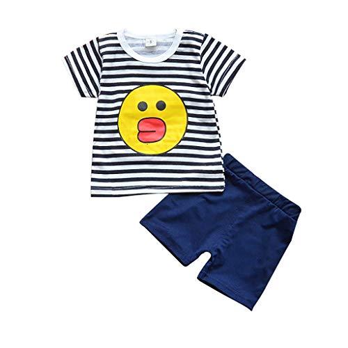 Julhold Jongen Meisjes Vrije tijd Mode Digitale Tops Kinderen Pak Polyester T-Shirt Gestreepte Shorts Kinderen Pak 0-5Jaar Nieuw