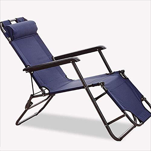 WJJJ Liegestuhl Klappstuhl Tragbare Aluminium Multifunktions Klappbett Moderne Casual Designer Stuhl Für Balkon Outdoor Garten Blau