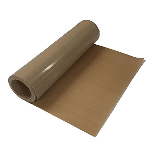 39' x 5 Yard PTFE-Coated Fabrics Sheet Roll Sublimation Heat Resistant PTFE Fiberglass Fabric for Heat Press Transfer Sublimation Printing - 8Mil Thickness (0.2mm)