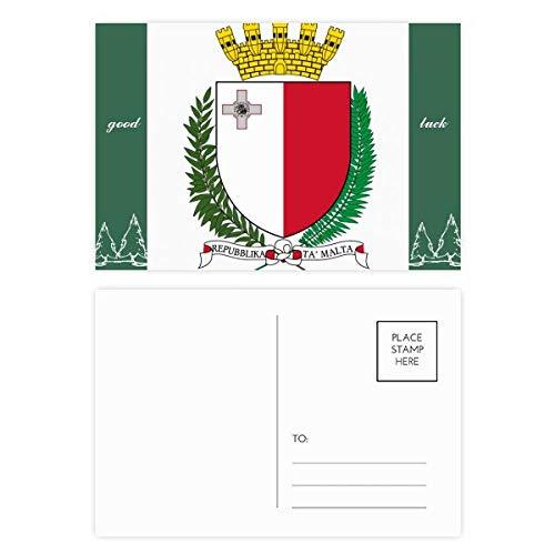 Malta Europa Nationaal Embleem Veel Geluk Postkaart Set Kaart Mailing Zijde 20 stks
