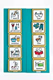 35 picture cards plus two foamex boards which attach to one another using VELCRO Brand hook and loop. Can display up to 10 cards at once and can easily be changed around thanks to the VELCRO Brand hook and hoop stuck to the back of the cards and the ...