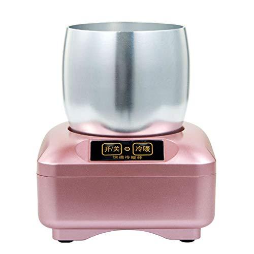 EMOOJOO Réfrigérateur à Bouteille électronique (Chauffage + Refroidissement), Tasse de Refroidissement de Bureau Intelligent, Seau à Glace en Aluminium de qualité Alimentaire pour Boissons Froides