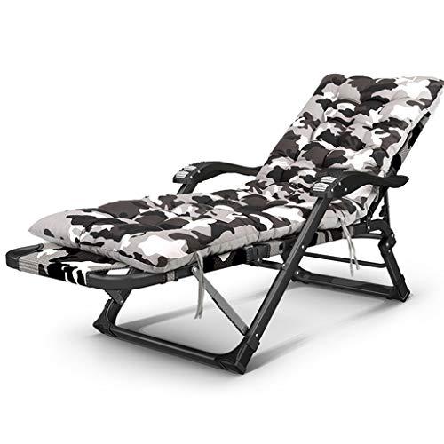 En plein air Sun Lounger Bed Fauteuil relaxant inclinable en Oxford résistant aux intempéries Tissu Zero Gravity Jardin Lit Pliant Réglable ( Couleur : Chair+cushion , taille : 30*15 flat tube )