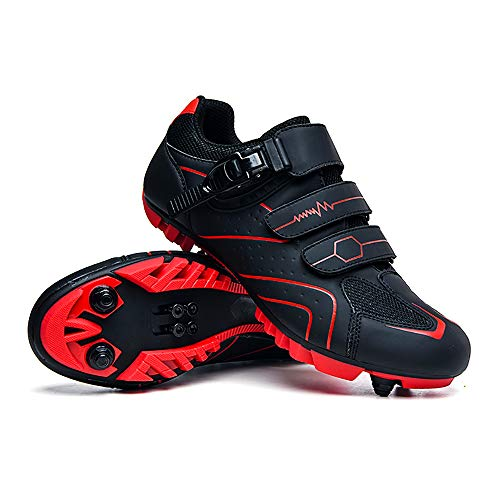 LU-Model Elite SPD MTB Radschuhe für Männer Frauen ideal für Mountainbike, Cyclo Cross Country XC Bikes in inklusive Red-44
