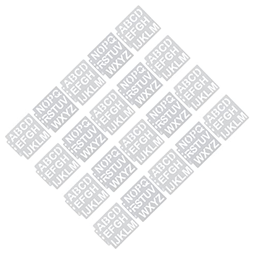 ステンシル、20個の塗装テンプレートスプレー用スタンプパッド用の中空塗装金型
