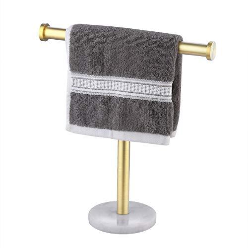 UMI. von Amazon Handtuchhalter Handtuchständer Stehend Edelstahl SUS304 Handtuch Halterung Garderobe Marmor Badezimmer Garderobenständer Messing Gebürstet, BTH205S10-BZ