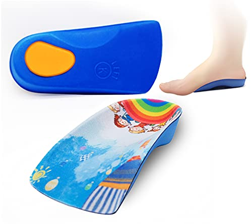 Arch Support Insole for Kids Shoes  Size K Orthotic Shoes Inserts for Kids  3/4 Length Inserts for Children's Heel Pain  Flat Feet  Plantar Fasciitis  Pronation