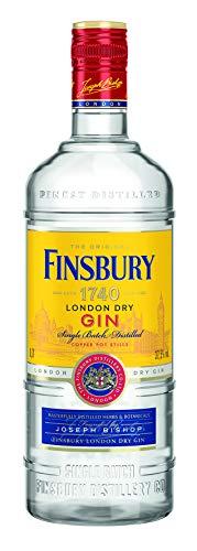 Finsbury London Dry Gin mit 37,5% vol. Der Klassiker aus London seit 1740, Wacholder und Zitrusnoten, Perfekt für Gin & Tonic - 1 x 0,7l