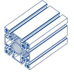 Alu-Profil 100x100 Nut 10 System S100 750 Aluminium-Konstruktion-Profile Strebenprofil Stangen Systemprofil Profile vom Profi (1000, Alu Silber)