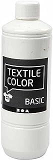 Pintura textil, blanco, 500 ml