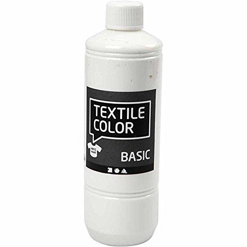 Pintura textil, color blanco, 500 ml