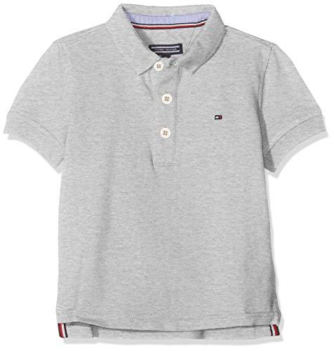 Tommy Hilfiger Jungen Boys Tommy Polo S/S Poloshirt, Grau (Grey Heather 004), 164 (Herstellergröße: 14)