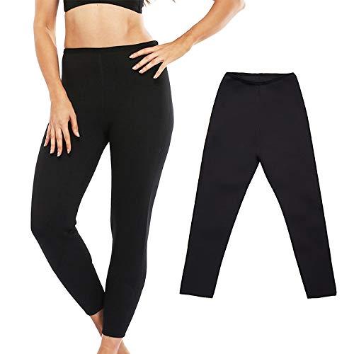 Leggings Pantaloni Lunghi Sauna Legging Control Mutandine Fitness Body Shaper Slim Super Stretch Capris Pantaloni Pant Donna Plus Size S Nero