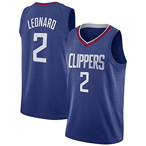 Divisa da Basket Casual, Maglia da Basket Swingman in Mesh Traspirante Clippers # 2, T-Shirt Sportive per Il Tempo Libero da Uomo E da Donna, Blue-S