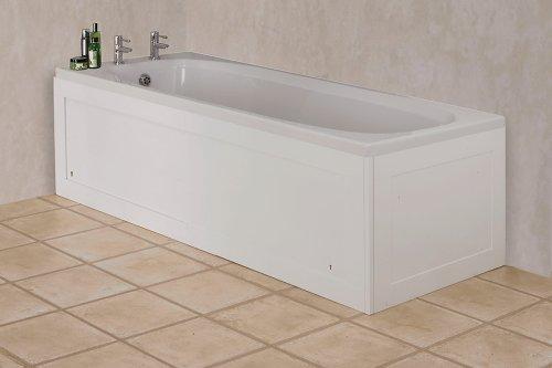 Croydex Unfold-n-Fit Badewannenschürze 66cm, Höhe verstellbar 50-53cm, Hochglanz-Weiß