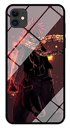 Funda para Teléfono con Imagen De Anime Fairy Tail End Funda para iPhone con Brillo Nocturno Carcasa Protectora De Cristal Templado Moda Genial Compatible con iPhone XS MAX