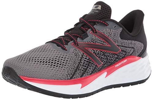 New Balance Men's Fresh Foam Evare V1 Running Shoe, Dark Grey/Team Red, 10.5