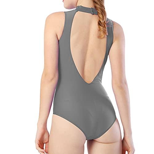 GFDFD Mujeres Alto Cuello Sin Mangas Leotard Nylon Spandex Body Gymnastics Leotards para Adultos (Color : D, Size : XXL Code)