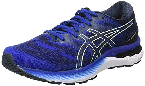 Asics Gel-Nimbus 23, Running Shoe Hombre, Monaco Blue/Bright Lime, 42.5 EU