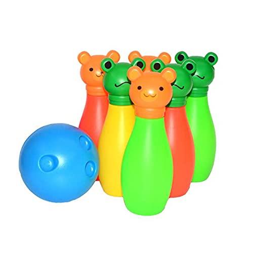 HDZW Kinder-Cartoons Bowling-Set für Erwachsene Dekompression Spaß-Spiel Tragbares Elternkind Interaktives Outdoor-Sportspielzeug Kinder 6.9 (Color : 1 Set)