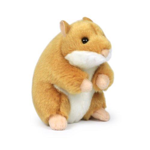 Mimex 15201023 WWF14792 - Plüsch, Hamster-sitzend, 11,5 cm, braun