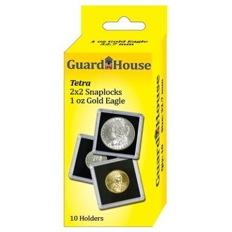 Guardhouse Tetra Snap Lock 2×2 1 oz AGE Coin Holder 10 Pack