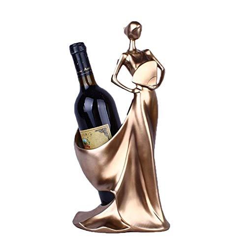Botella de vino bastidor Estante Del Vino - Creativo Sencillo Muebles For El Hogar Figurines Decoración Moderna Azul Del Ventilador Belleza De La Flor Del Vino En Rack Decoración Creativa Boda Crafts