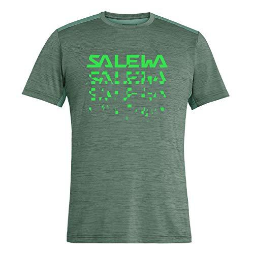 SALEWA Herren PUEZ HYBRID 2 DRY M S/S TEE Hemden & T-shirts, Myrtle Melange, 50/L