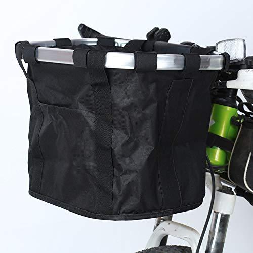 Robasiom Fahrradkorb, faltbar, für kleine Haustiere, Katzen, Hunde, abnehmbare Fahrrad-Lenkertasche mit Schnellentriegelung, abnehmbarer Fahrrad-Halter, Aufbewahrungskorb