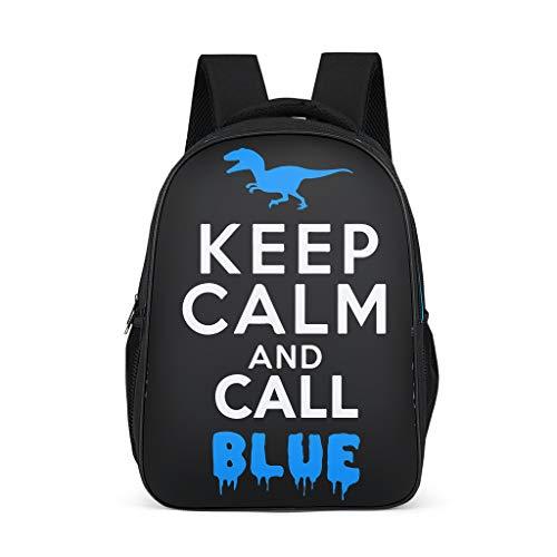 NiTIAN lood rustig en oproep blauw op bedrukte schoolrugzak mini backpack kinderen jongeren dames heren rugzak vrijetijdsrugzak voor onderweg winkelen 32 c * 18 * 42 cm polyester Jura