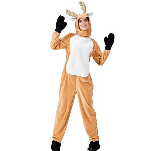 AAJTCT Festival Prodotti Elk Costume di Natale Magenta Animale Adulto nello Spettacolo Travestiti Natale Cervi di Natale Servizio Babbo Natale