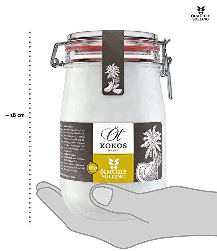 Ölmühle Solling Bio Kokosöl im Bügel-Glas 1000ml - 5
