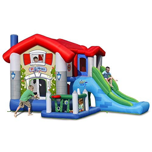 ACTION AIR Bounce House, Bounce House with Blower, Inflatable Bounce House with 30 Pit Ball, Jumping House for Kids, Great Gift for Thanksgiving and Christmas (9515)