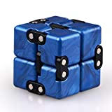 QIYI Little Golden Elephant Upgraded Infinity Cube Fidget Toy,Cool Mini Gadget Best for Stress and Anxiety Relief and Kill Time, Special Designed Texture Artistic and Fashion(Sapphire)