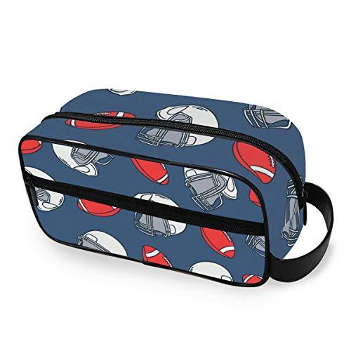 Sport Rugby Helm Kulturtasche Kulturtasche Reisetasche Kosmetiktasche tragbare Make-up-Tasche Multifunktions-Aufbewahrungstasche aus Segeltuch für Frauen Mädchen