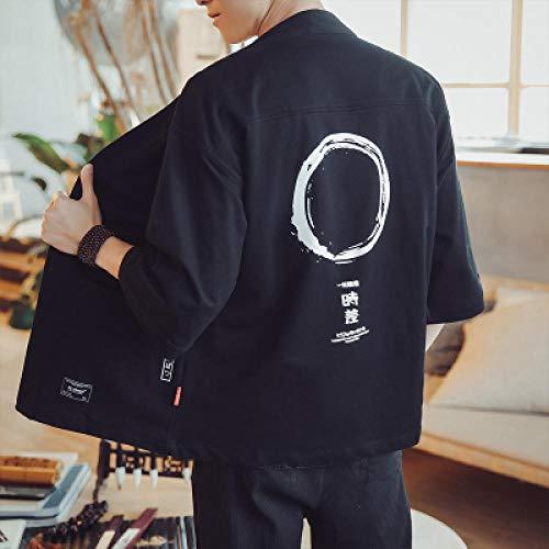 Kimono Cardigan Uomini Giapponesi Obi Maschile Yukata Uomini S Haori Samurai Giapponese Costume Tradizionale Abbigliamento Giapponese Zzzb (Color : 2, Size : XL)