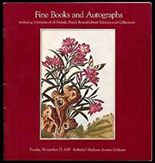 Fine Books & Autograph Letters: Sale Number 4482M