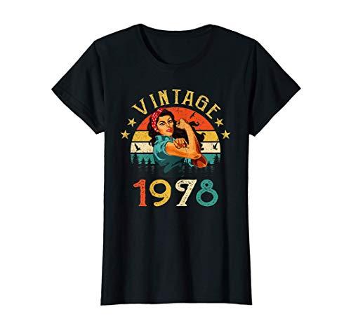 Mujer 43 Años Cumpleaños Nacido en 1978 Vintage 1978 43 Cumpleaños Camiseta